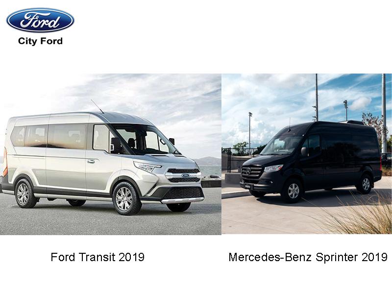 Ford Transit 2019 và Mercedes-Benz Sprinter đều là hai dòng xe được người dùng yêu thích