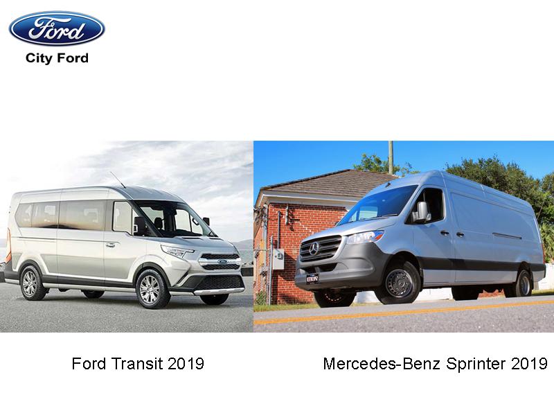 Sức hút của Ford Transit 2019 và Mercedes-Benz Sprinter 2019 trên thị trường Việt Nam