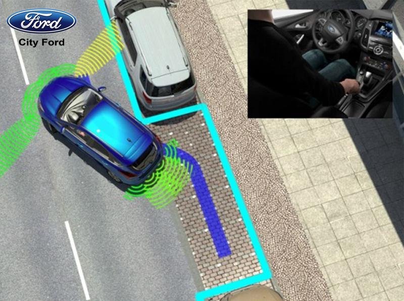 Hệ thống cảm biến sẽ tìm kiếm vị trí đỗ xe phù hợp